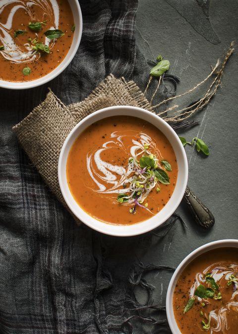 Tomato and mascarpone cream soup