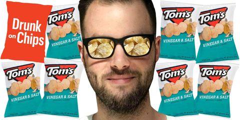 Tom's Vinegar and Salt Chips Review - Drunk on Chips