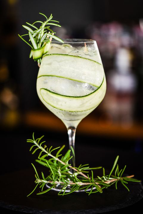 tonic gin with fresh cucumber & rosemarie spicy