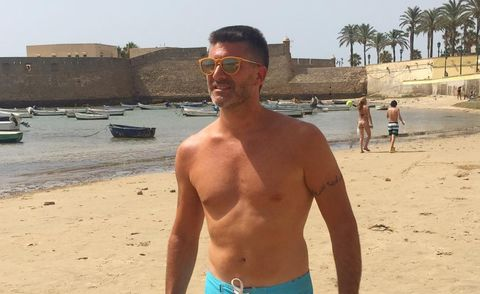 Barechested, Beach, Muscle, Chest, Summer, Vacation, Arm, Trunk, Selfie, board short,