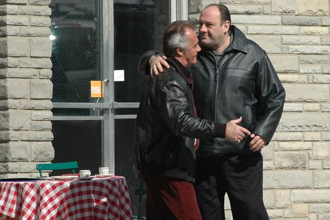 the sopranos on location at satriale's pork store march 20, 2007