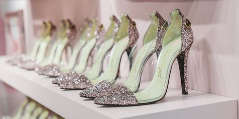 Footwear, High heels, Pink, Shoe, Fashion, Room, Dress, Fashion accessory,