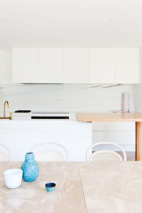 White, Furniture, Room, Property, Interior design, Floor, House, Table, Architecture, Kitchen,