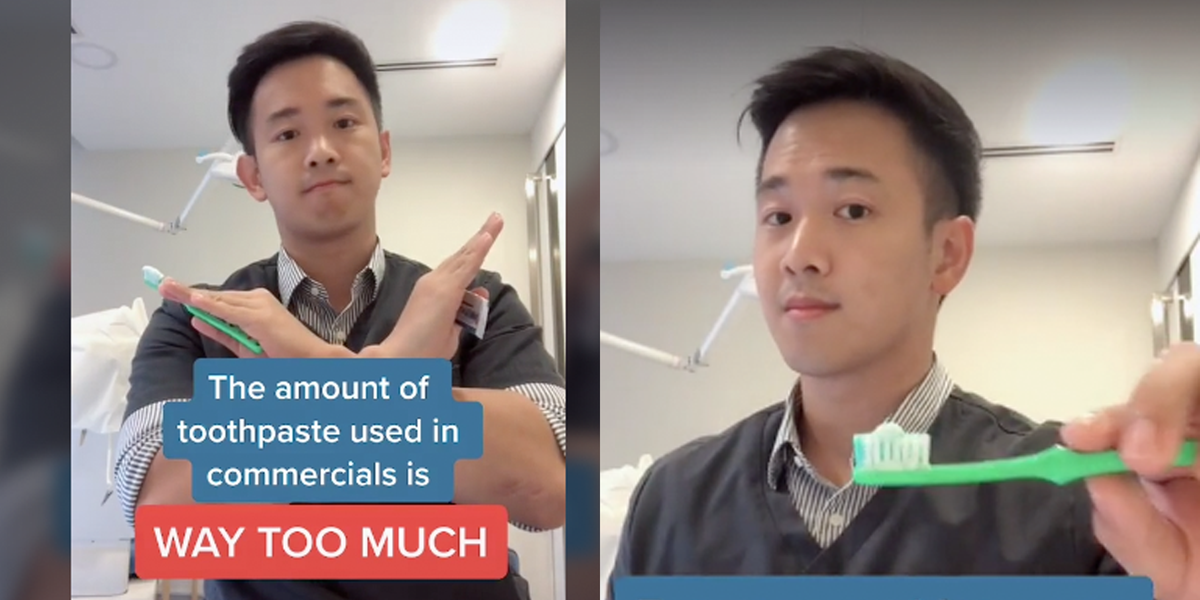 Dentist's Viral TikTok Explains Why You're Probably Using the Wrong Amount of Toothpaste