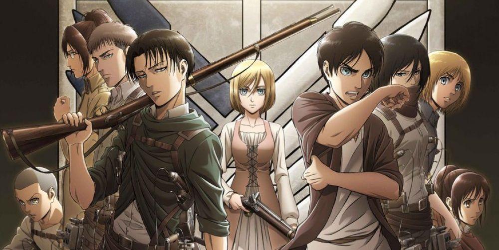 top 10 animes sobrevalorados attack on titan