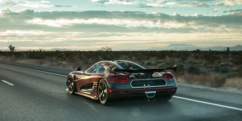 Koenigsegg's Top Speed Was 285 MPH on the Nevada Highway