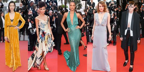 Red carpet, Fashion model, Carpet, Dress, Clothing, Fashion, Premiere, Flooring, Event, Haute couture,