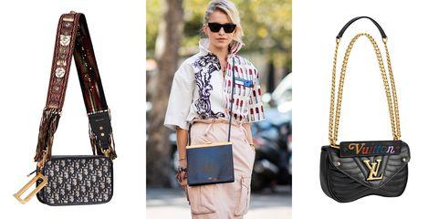 Bag, Street fashion, Clothing, Fashion, Shoulder, Jeans, Handbag, Brown, Fashion accessory, Material property,