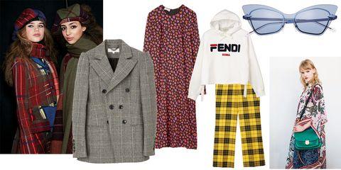 Clothing, Plaid, Tartan, Outerwear, Pattern, Fashion, Overcoat, Design, Sleeve, Coat,