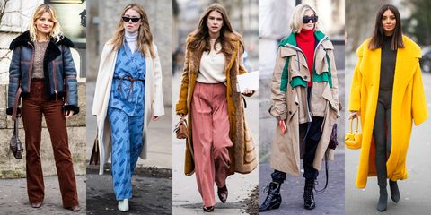 Clothing, Street fashion, Fashion, Fashion model, Coat, Outerwear, Human, Jeans, Overcoat, Fur,