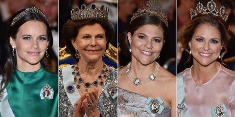 スウェーデン王室 シルヴィア王妃 ヴィクトリア王女 マデレーン王女 ソフィア妃