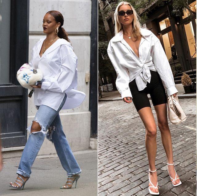 White, Clothing, Street fashion, Jeans, Fashion, Footwear, Denim, Shoe, Sandal, Leg,