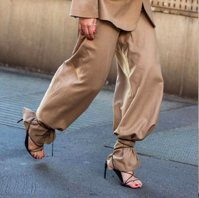 Clothing, Footwear, Brown, Sleeve, Trousers, Khaki, Outerwear, Collar, Bag, Style,