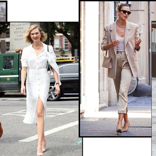 Clothing, Fashion, Footwear, Street fashion, Jeans, Shoe, Dress, Fashion model, Shoulder, Formal wear,