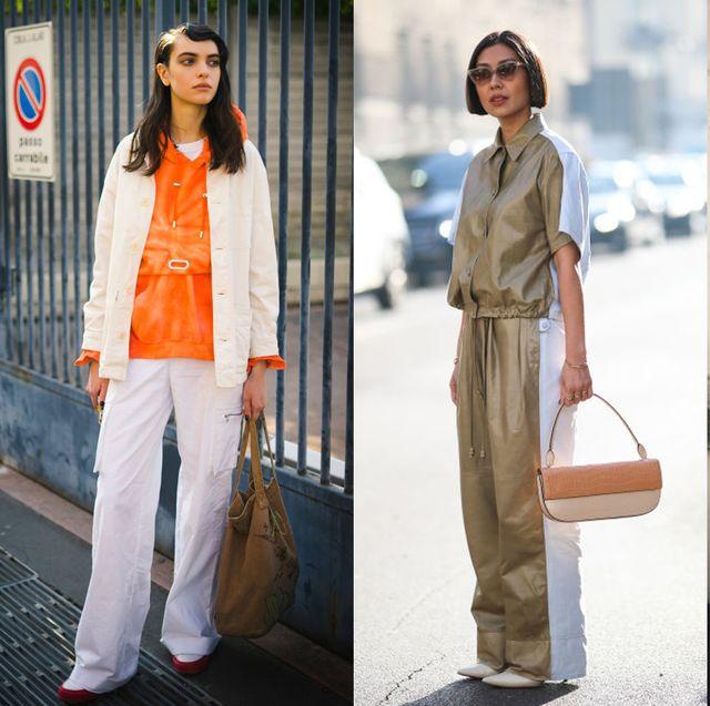 Clothing, Street fashion, Fashion, Orange, Blazer, Jacket, Outerwear, Footwear, Suit, Shoe,