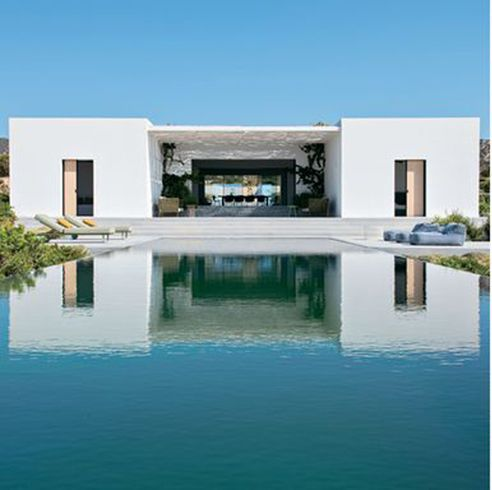 Property, Architecture, Real estate, Swimming pool, Furniture, Outdoor furniture, Facade, Azure, Rectangle, Composite material,