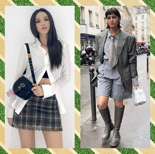【2021春】制服風ファッションがブーム確実! 韓国セレブもハマるおしゃれなお手本スクールコーデ15選