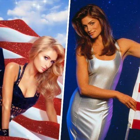 Clothing, Flag, Lingerie, Model, Bikini, Flag of the united states, One-piece swimsuit, Photo shoot, Undergarment, Swimwear,