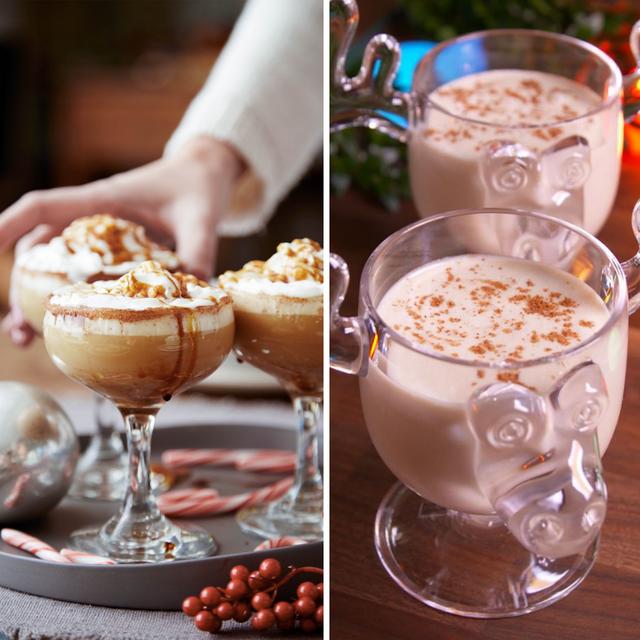 主にアメリカでクリスマス休暇に楽しまれる冬の飲み物「エッグノッグ」。名前の通り、卵が入ったクリーミーな味わいで、シナモンやナツメグの香りが特徴的です。本記事は、、基本的なエッグノッグの作り方や、ラム酒やバーボンを入れたアルコール入りのもの、そしてケーキやアイスクリームへのアレンジ方法をご紹介!
