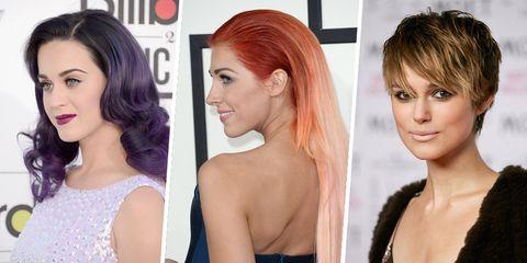 Hair, Face, Hairstyle, Hair coloring, Chin, Blond, Eyebrow, Bob cut, Brown hair, Step cutting,