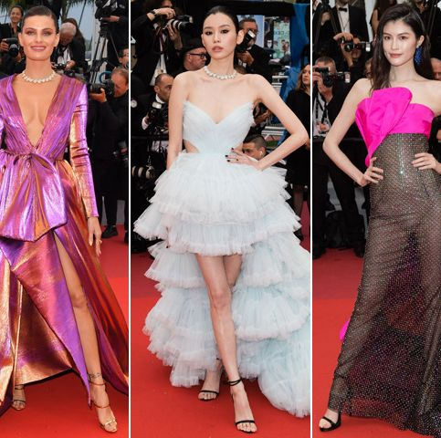 Fashion model, Red carpet, Dress, Clothing, Carpet, Fashion, Haute couture, Gown, Flooring, Premiere,