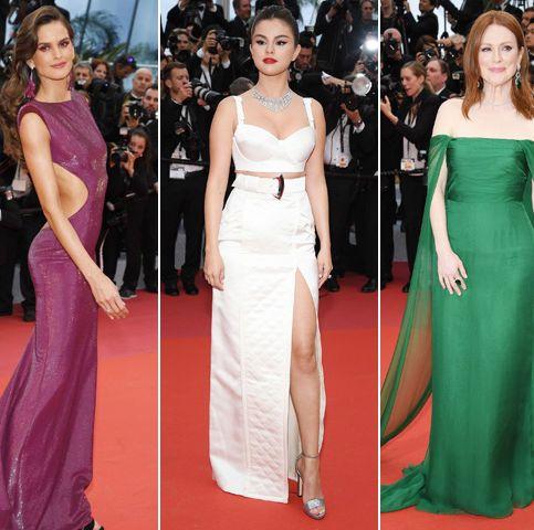 Red carpet, Fashion model, Dress, Clothing, Carpet, Gown, Shoulder, Flooring, Fashion, Haute couture,