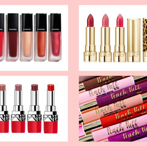 Cosmetics, Pink, Lip gloss, Lip, Tints and shades, Material property, Lipstick, Writing implement, Brand, Lip liner,