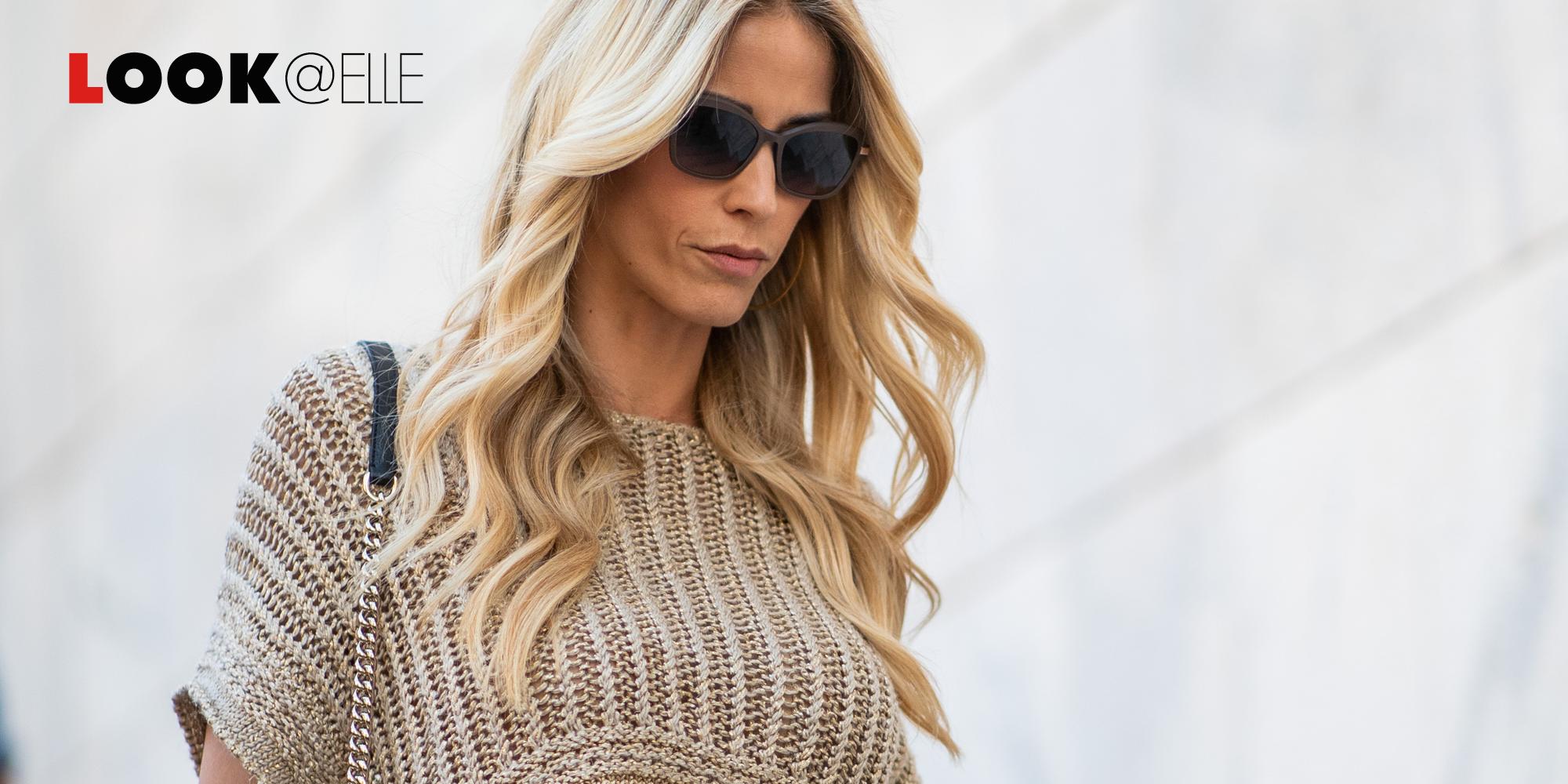 Il top del momento è la bralette e quella in pizzo di Elena Santarelli cattura la totale attenzione della moda Primavera Estate 2019