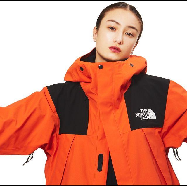 Clothing, Orange, Jacket, Outerwear, Personal protective equipment, Sleeve, Workwear, Hood, High-visibility clothing, Raincoat,