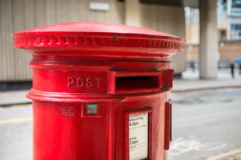 Top Section of a Red Post Box
