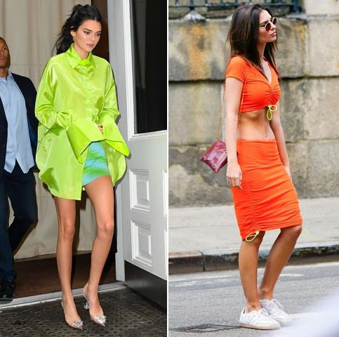 Clothing, Yellow, Orange, Street fashion, Footwear, Fashion, Dress, Shoulder, Fashion model, Sandal,