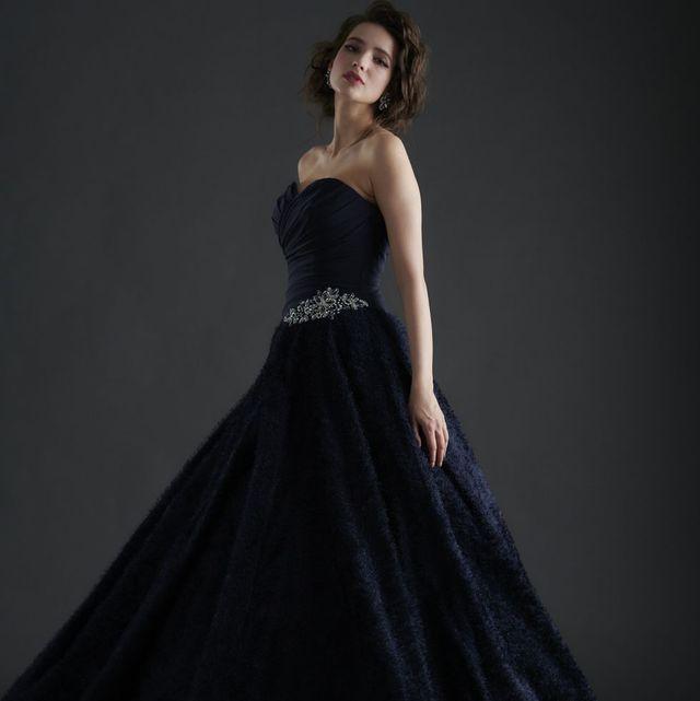 ギャレリアコレクションのダークネイビーのドレス