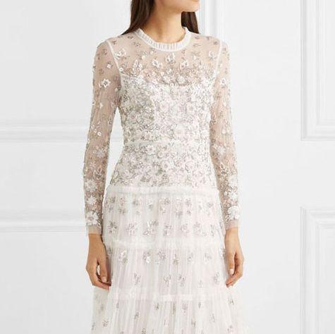ロングスリーブドレス ウエディングドレス キャサリン妃 メーガン妃 ウエディング 結婚式 長袖ドレス