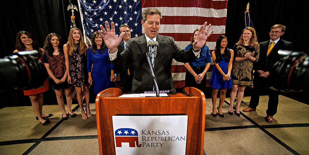 Governor Sam Brownback wins another term