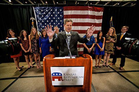 Governor Sam Brownback wins another term