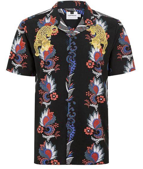Clothing, Sleeve, Collar, Button, T-shirt, Outerwear, Top, Shirt, Pattern, Blouse,