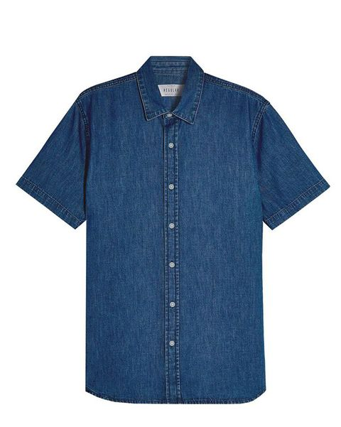 Denim, Clothing, Blue, Sleeve, Button, Jeans, Textile, Shirt, Outerwear, T-shirt,