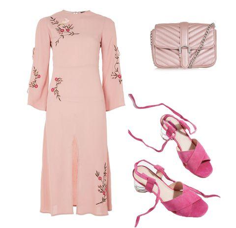 Sleeve, Shoulder, Textile, Bag, Pink, Style, Pattern, Dress, Fashion, Magenta,