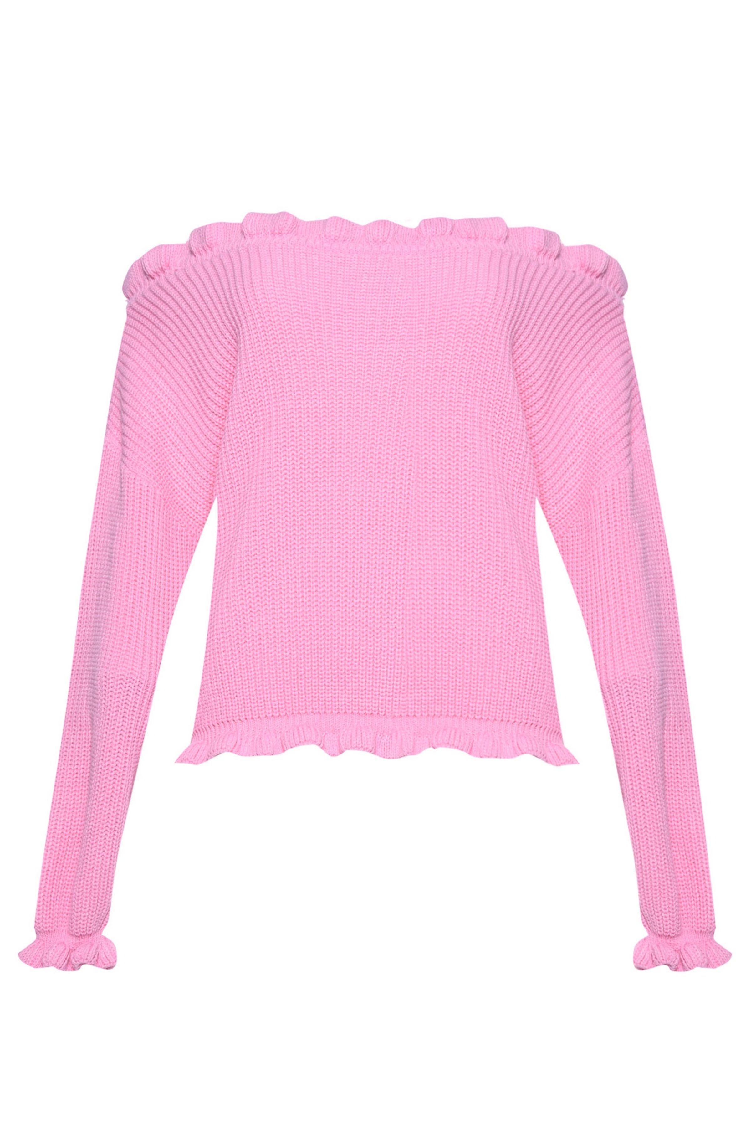 Gebreide-roze-trui