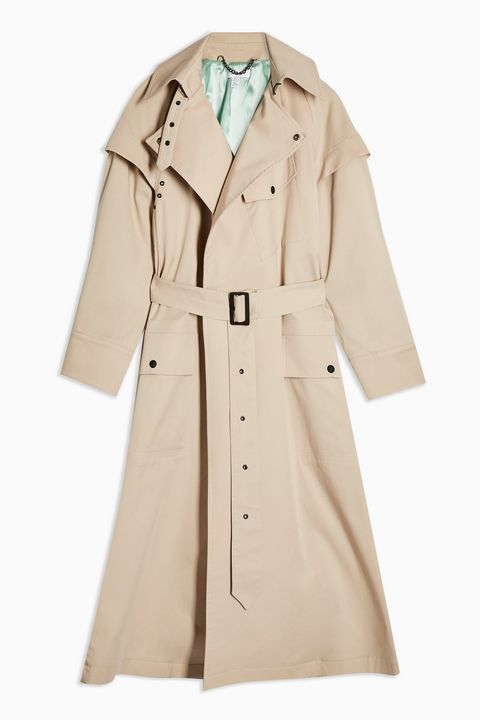 Clothing, Coat, Trench coat, Outerwear, Overcoat, Sleeve, Beige, Duster, Collar, Jacket,
