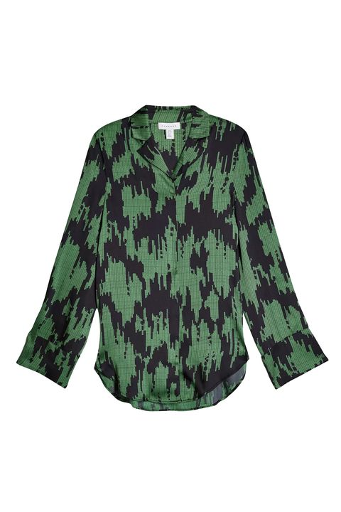 Clothing, Green, Sleeve, Outerwear, Blouse, Military camouflage, Shirt, Pattern, Top, Camouflage,