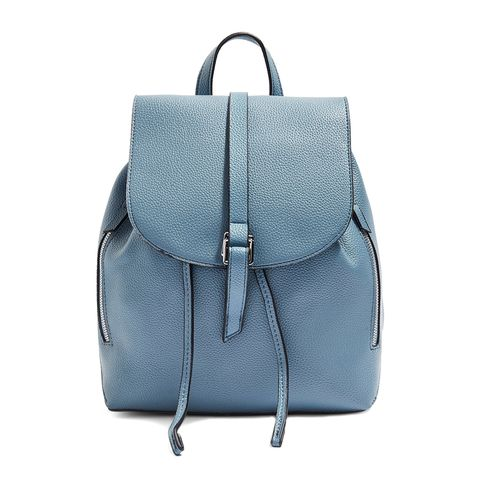 topshop blue faux leather backpack