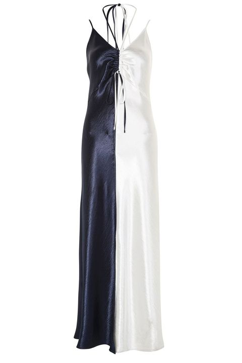 Clothing, Dress, White, Gown, Formal wear, Outerwear, Cocktail dress, Day dress, Satin, Textile,