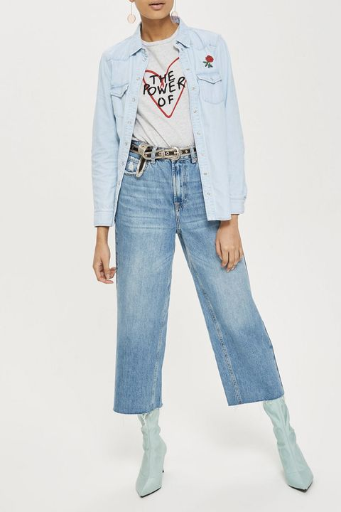 Topshop petite cropped jeans