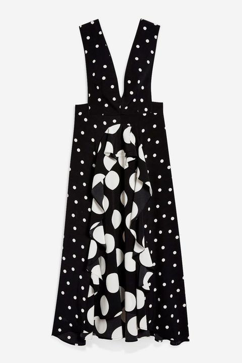 c6e65919a92 Topshop s sold-out polka-dot dress is back – Topshop s black and ...