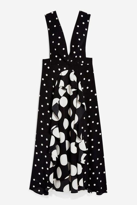 Topshops Sold Out Polka Dot Dress Is Back Topshops Black And