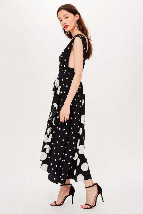 934ede6688b0 Topshop's sold-out polka-dot dress is back – Topshop's black and ...