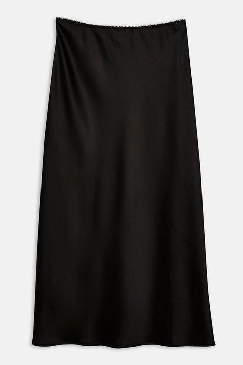 Topshop satin slip skirt