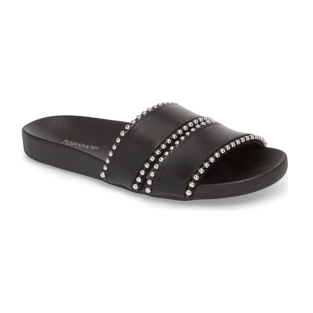 topshop black slide sandals