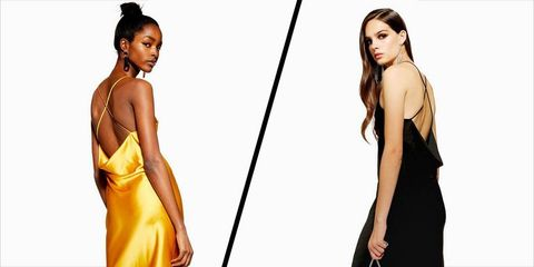 Fashion model, Clothing, Dress, Yellow, Shoulder, Cocktail dress, Fashion, Model, Formal wear, Neck,